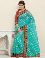 Indian ethnic sarees - fashion georgette, poonam, micro poonam sarees at low prices