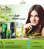 Ayurvedic indee herbal hair oil with natural extracts