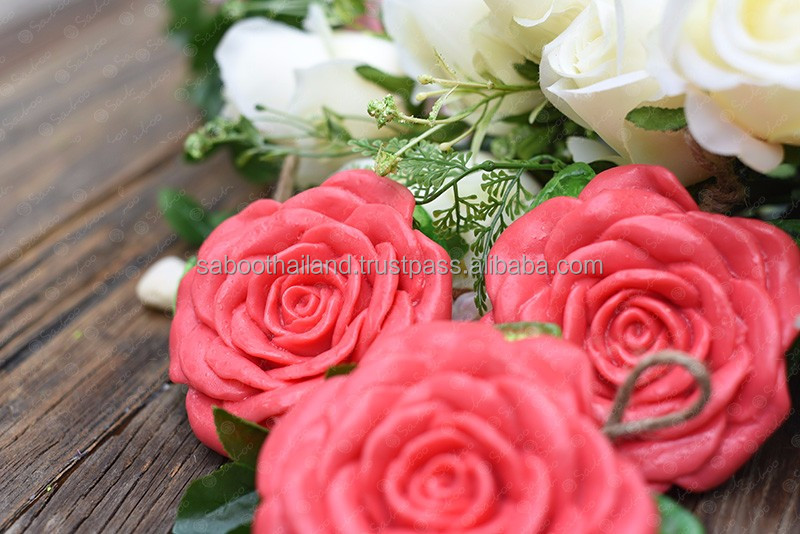 Saboo Thailand Natural Handmade Soap : Rose Flower Soap