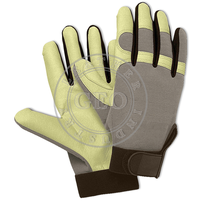 Working Tools Hands Safety / Industrial Tool Protection / Goat Leather Mechanics Gloves