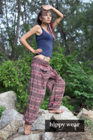 Harem Genie Gypsy Aladdin Pants Festival Om Aum Brown Yoga Hippie Boho Beach Indian om pants Trousers Men/Women wholesale lot