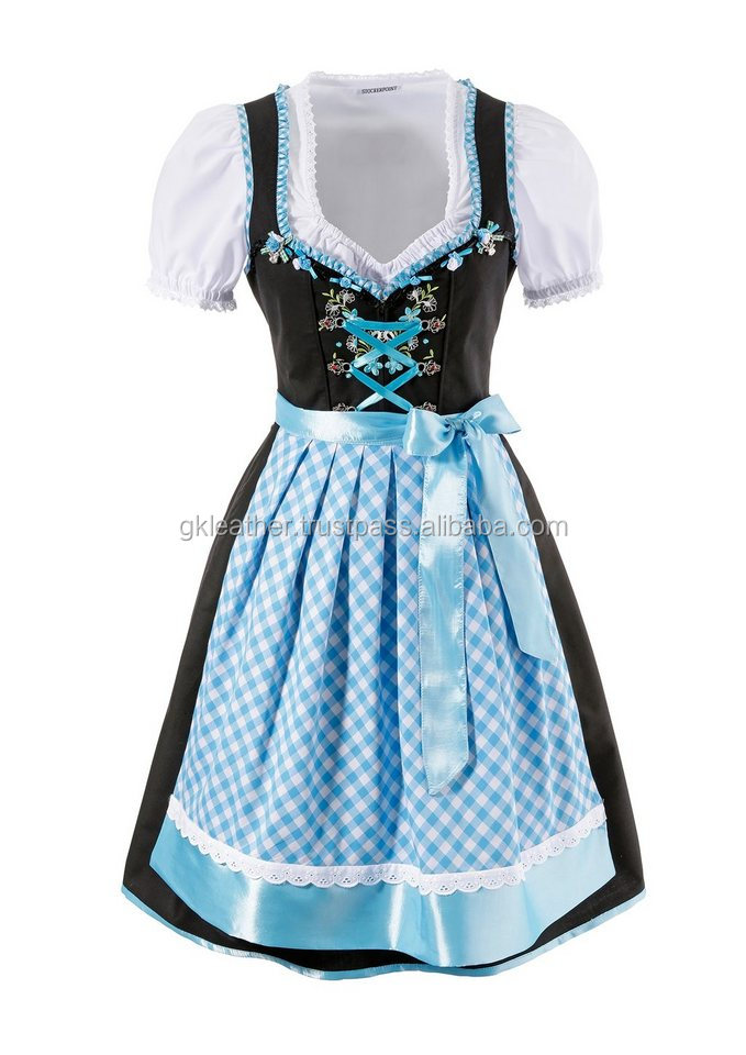 Bavarian Dirndl Dress for Oktoberfest/ Traditional Bavarian Dirndl/German Long