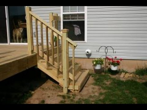 Attaching Deck Stair Railing~Installing Deck Stairs And Railings Part 71