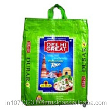 bopp block bottom rice packing pp woven shopping bag