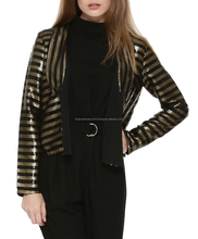 Beautiful Stripe sequinned Jacket for women