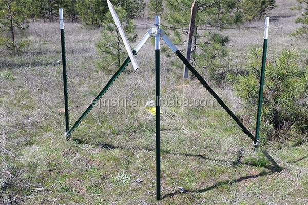 8' x 1.25 LB Dip painting Steel Metal T Post for barbed wire fence