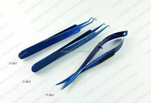 Blue Plasma Volume Eyelash Extension Tweezers Blue Titanium Coated Eyelash Extension Tweezers Beautiful Blue Colour on Tweezers