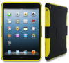 Extreme Hybrid TPU Shell Case flex hard silicone with black clip-on matte shell case for iPad Mini roocase (Yellow)