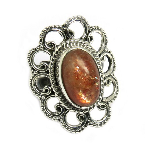 Red Sun Stone 925 Sterling Silver Jewelry Ring, Designer Pieces Silver Jewelry, 925 Silver Jewelry