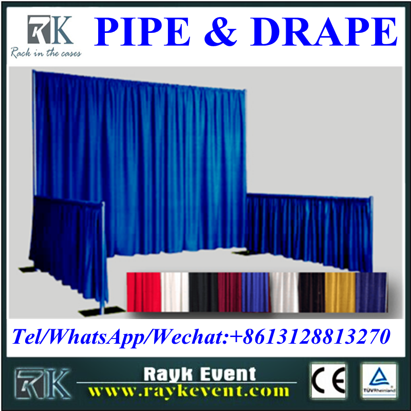 High quality modular exhibition booth pipe and drape stands custom trade show booth made in China