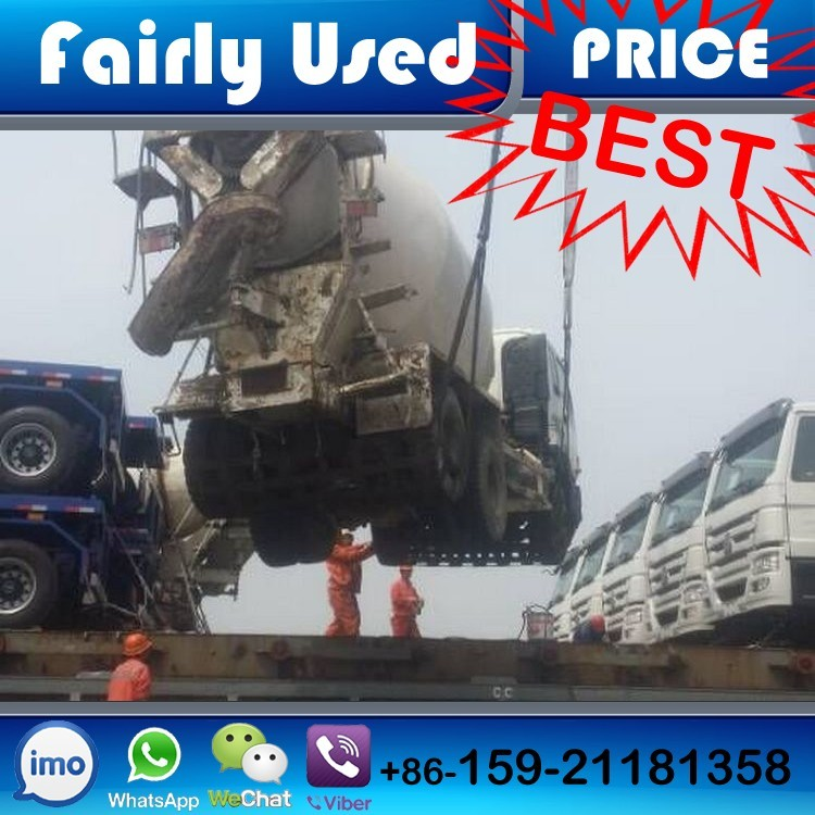 Loading Used Concrete Truck Mixer of Japan Portable Mobile Cement Transit Truck Mixer