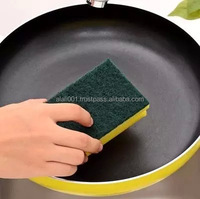 28D factory direct wholesale kitchen usage sponge with scouring pad for washing dishes alfa bema made in Egypt