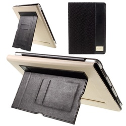 Milan Series Card Holder Leather Smart Case for iPad Air - Black