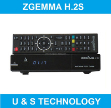 Super Wholesale Zgemma H.2S Digital FTA Satellite Receiver Full HD 1080P Dual Core E2 Linux OS DVB-S2+S2 Twin Sat Tuners