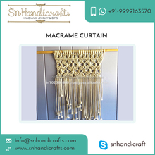 Premium Quality Raw Material Made Large Size Macrame Wall Hanging Curtain