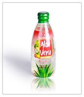 Apple flavor Aloe Vera 250ml glass bottle