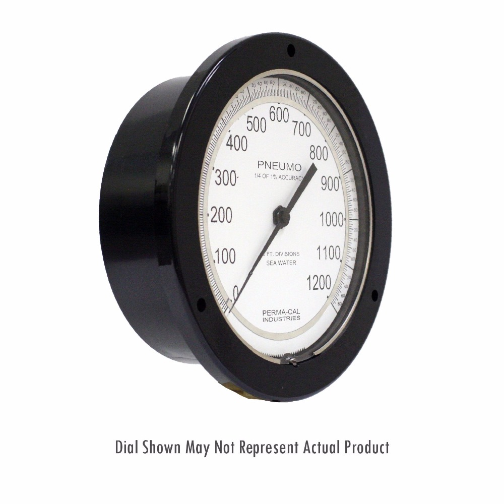 Depth Gauges and Pneumo Gauges - 200 Series - 6 Inch Dial - Perma-Cal Direct Drive Pressure Gauge
