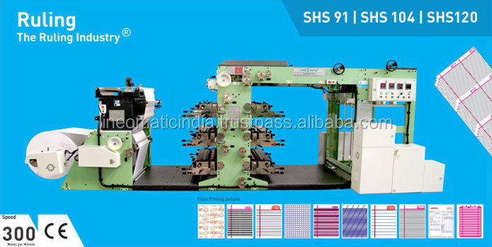Automatic Reel to Sheet Super High Speed Ruling / Flexo Printing Machine