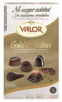 Gold Selection No added sugars chocolates 120g