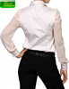 Women Girl Ladies Blouse Top Long Sleeve Shirt White Office Wear Formal Fashion Cotton Chiffon Blend OEM Customize #8166216
