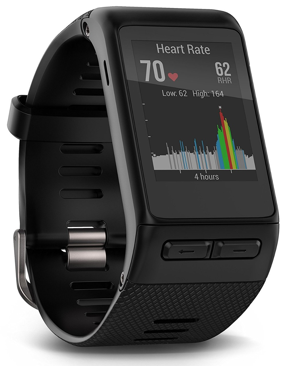 Low Price vivoactive HR GPS Smart Watch, Regular fit - Black