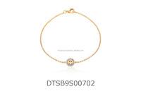 Fancy CZ Studded 14 KT Gold Plated Fashion Bracelet