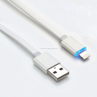 slim led data charging micro USB cable with compatible material usb cable V8 connector
