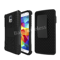 Heavy Duty Dual Layers Rugged Armor Case with Holster For Samsung Galaxy S5