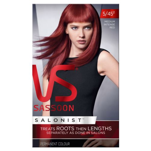 Vidal Sassoon Salonist Medium Intense Red 5/45 Permanent Hair Colour
