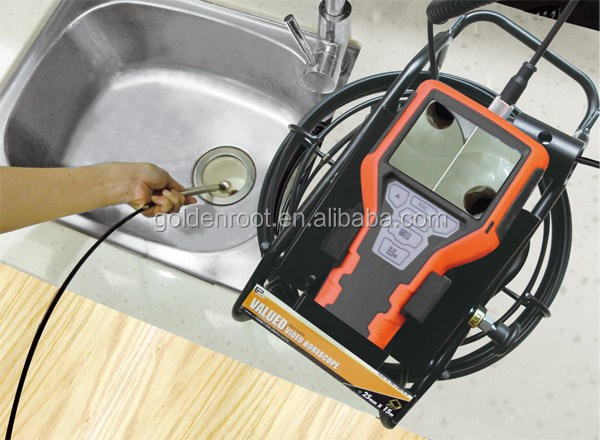 Taiwan Made 3.5'' LCD Video Pipe Line Inspection Camera with Fiberglass Cable