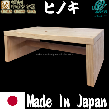 High Grade Hinoki Wood Footstool Made In Japan