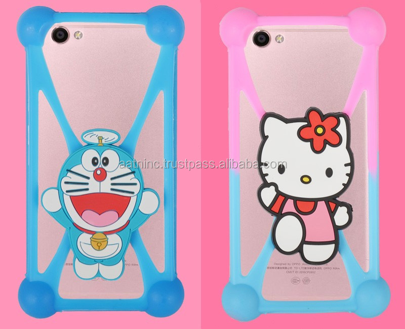 Newest high quality silicone stretch phone case