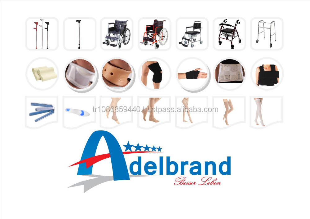 Walkers , Walking sticks , Cane , Elbow crutches , Tetrapod , T - Cane , Rollator , Wheelchairs