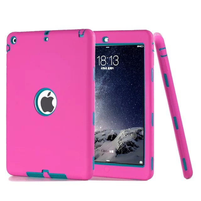 PC Silicon Cover For iPad mini Case Hybrid Combo Shockproof Robot Cover for iPad mini 2 Case Charger Protector for ipad mini 3