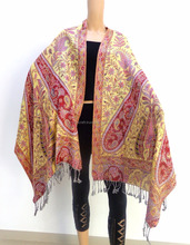 Wholesale pure silk stoles - traditional long neck scarf - two side wear shawl - Indian pashmina stoles