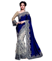 Patch Border Work Velvet Designer Saree/Buy saree Online/Wedding Bridal Sarees