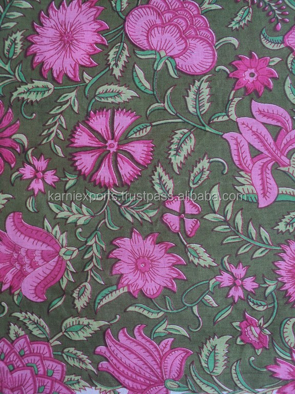 High-quality floral design printed rayon fabric for home textile & ladies dresses wear
