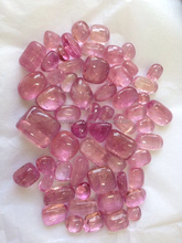Natural Pink Color Tourmaline Plain Tumble Loose Stone