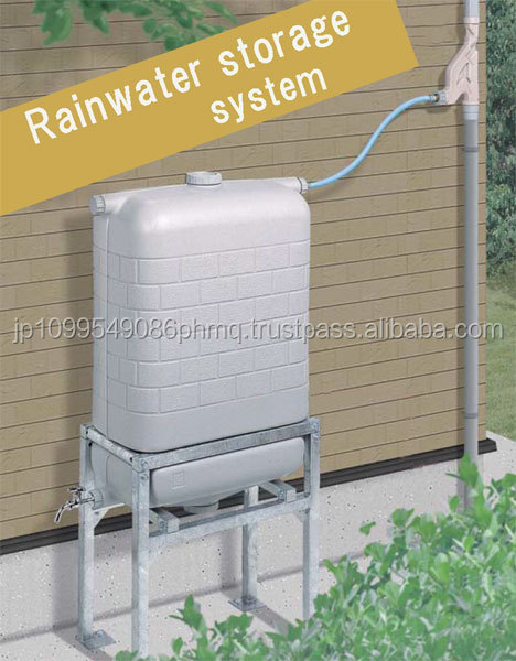 Functional and Eco-friendly water reservoir rainwater storage system made in Japan