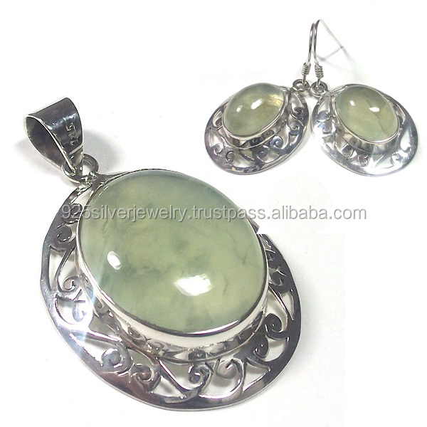 Women silver jewelry fashion pendant silver earrings natural stone jewelry wholesale jewelry sets