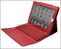 Red Color 9.7 inch Leather Case With bluetooth Keyboard TC- 97B