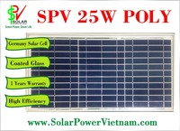 25W Poly solar panel - Germany Solar Cell - SPV25P made in Vietnam