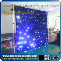 simple led video control system ce led curtain display with good quality