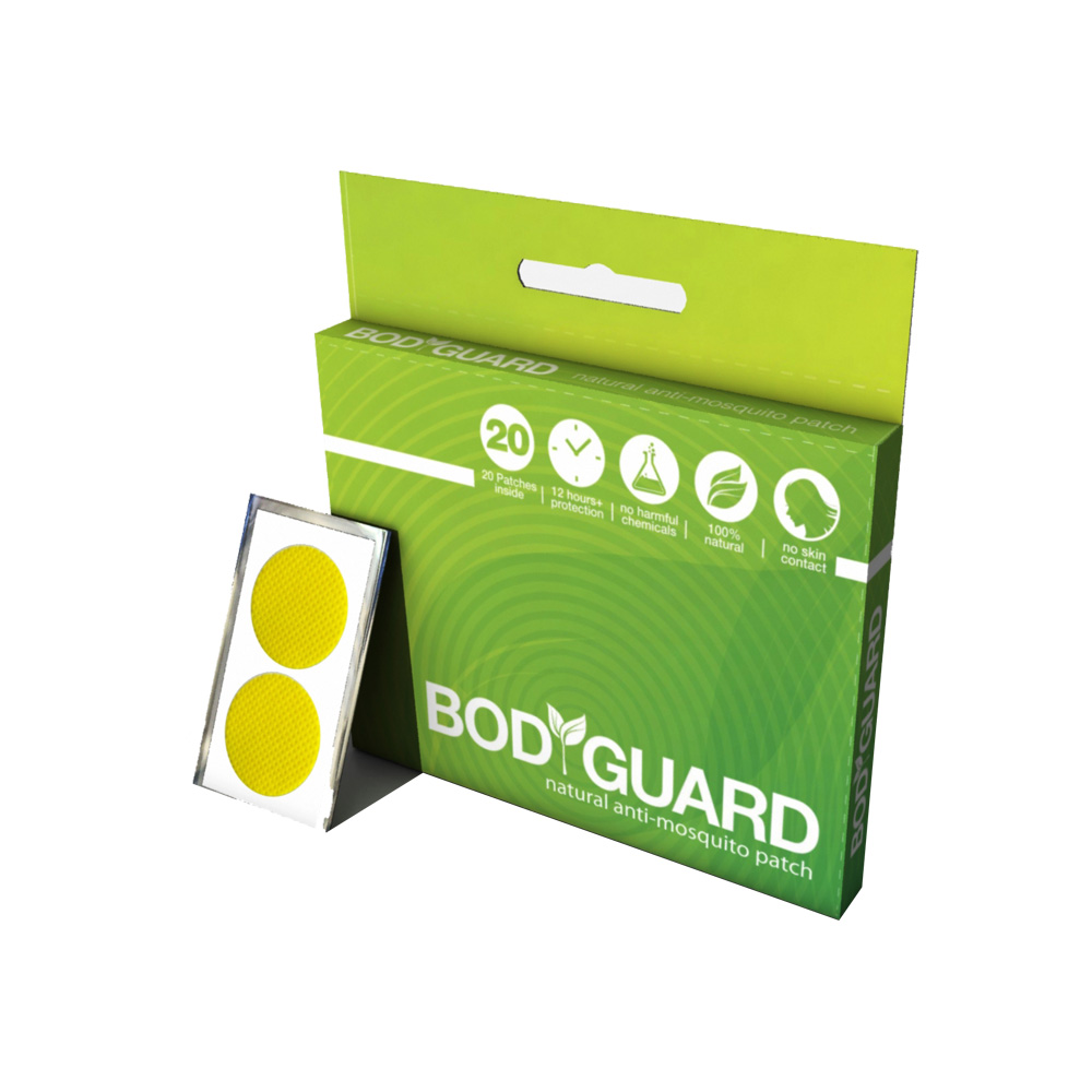 Bodyguard Natural Anti Mosquito Patches (20 Patches)