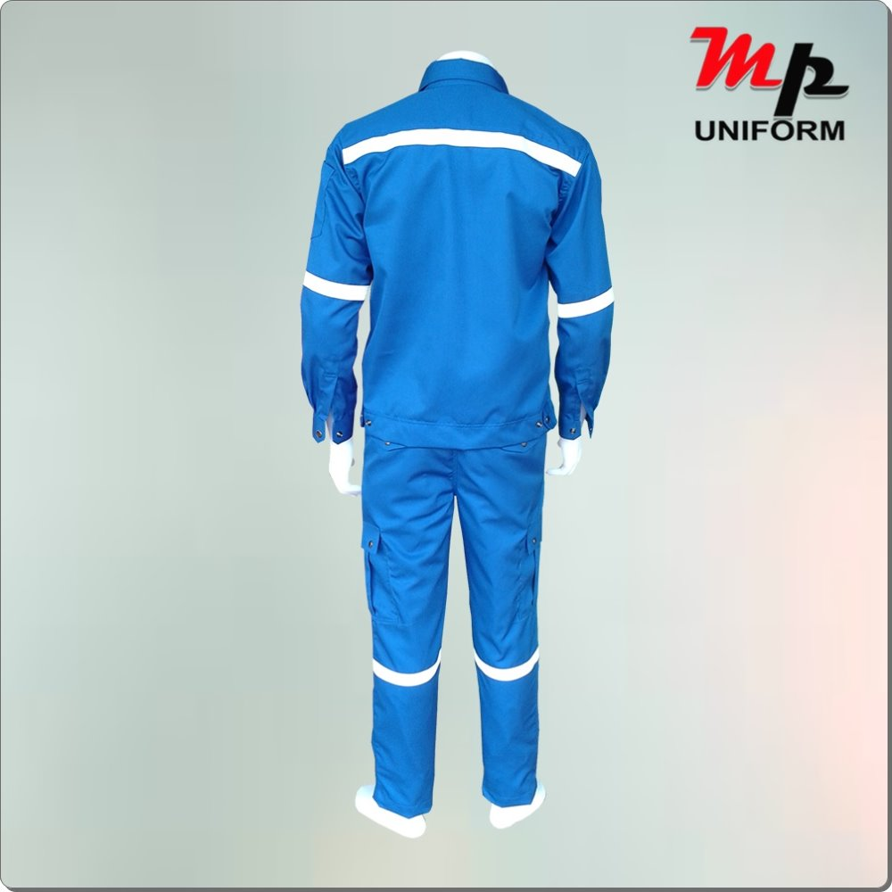 Royal blue nomex IIIA uniform with reflective.