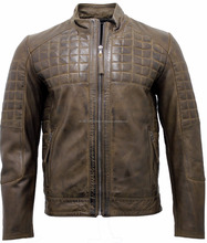 Men Motor bike leather jacket original Leather Fashion Jacket Racing Jackets