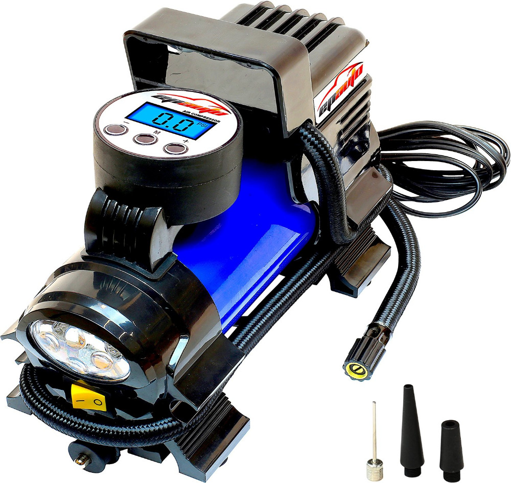 EPAuto 12V 120W Portable Air Compressor Pump, Digital Tire Inflator by 100 PSI