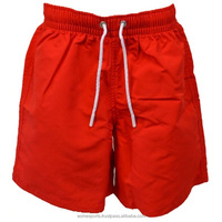 oem beach swimming shorts - new brand hot selling best striped swim shorts in red color made with 100% POLYESTER
