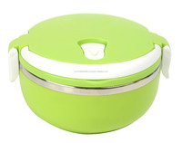 HOU1502 1- Tier Stainless Steel Lunch Box Green