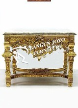 italian Luxury Decorative Wooden carving Cabinet
